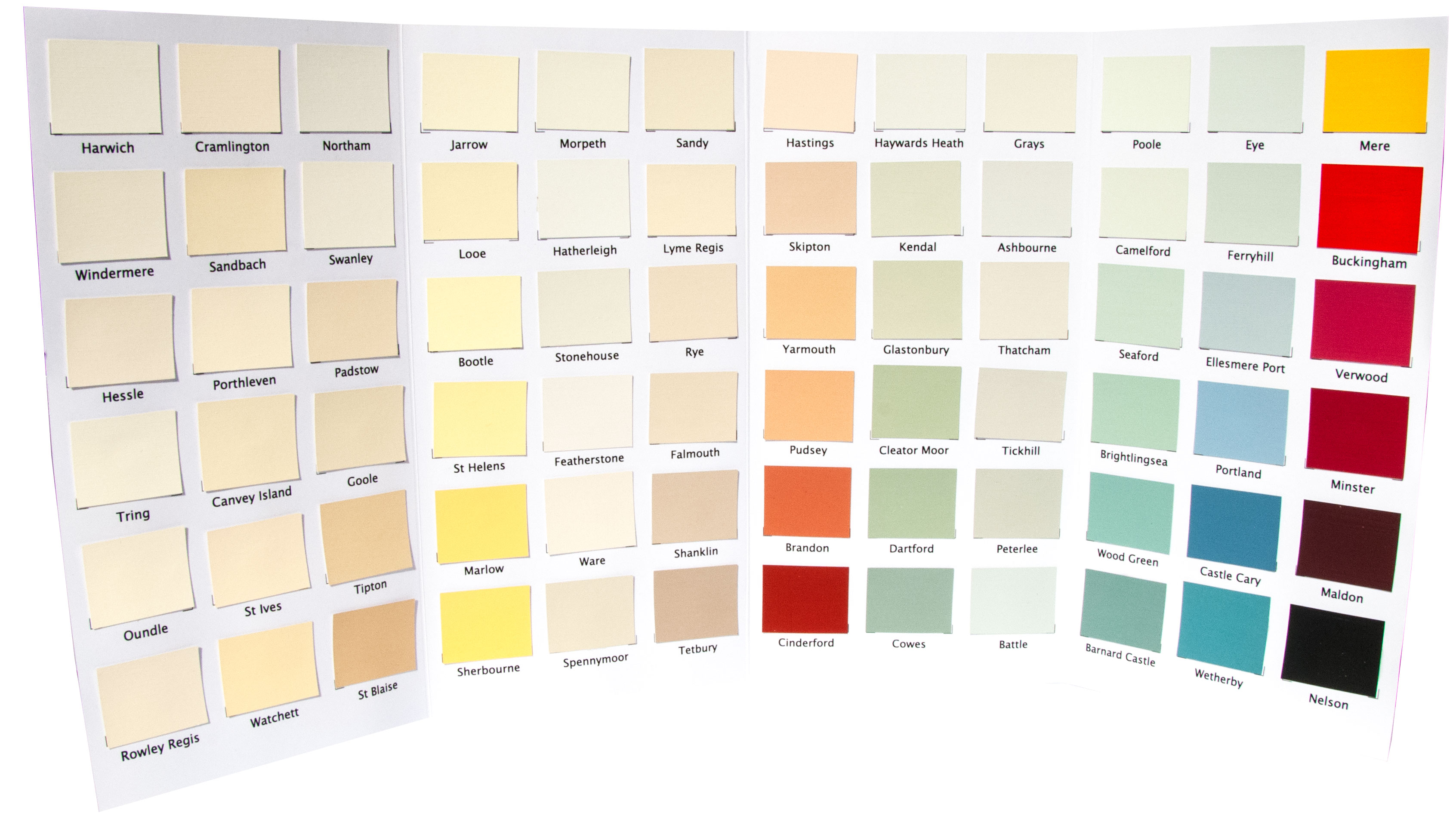 Natural Paints Colour Chart